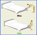 Higiene postural correcta para realizar tareas domésticas.
